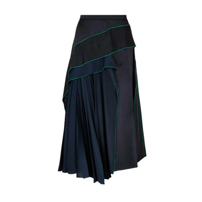 Sportmax Navy and Green Freda Skirt
