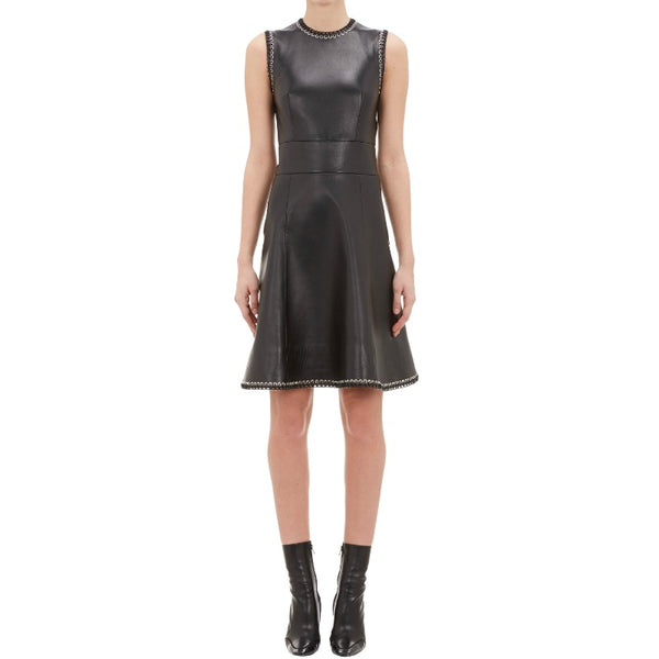 Balenciaga Black Eyelet Embellished Dress