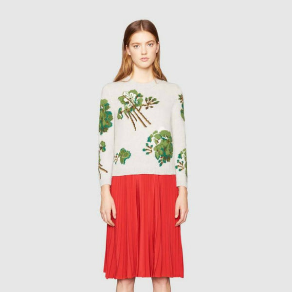Gucci Blooms Print Sweater