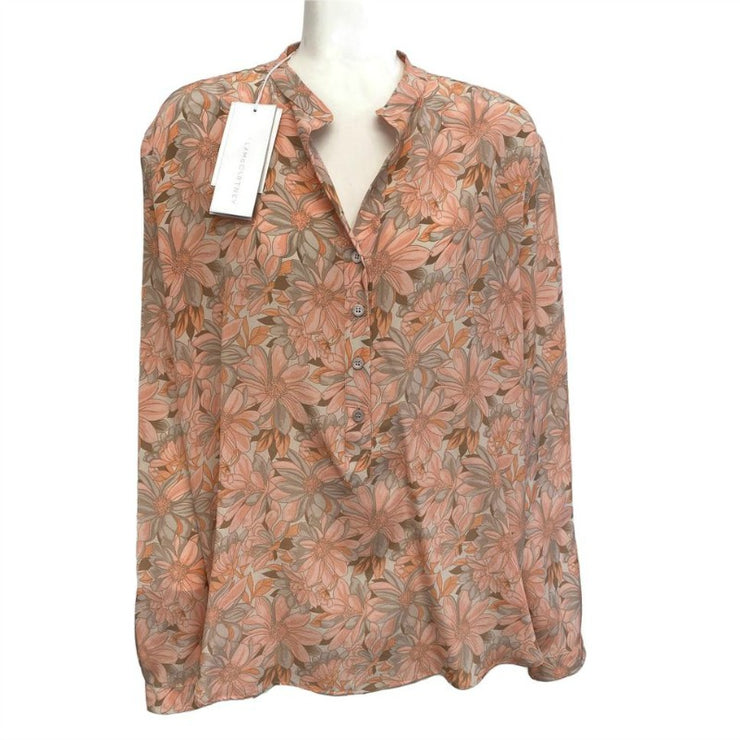 Stella McCartney Orange Multi Floral Blouse
