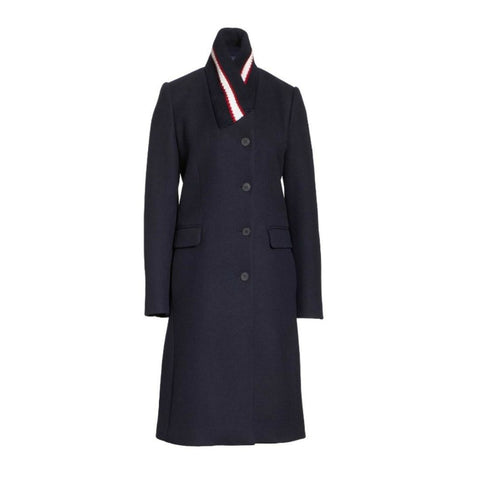 Stella McCartney Ink Knit Collar Wool Coat