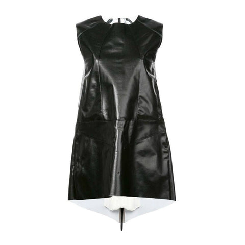Vionnet Black Stretch Faux Leather Tunic