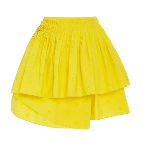 Ulla Johnson Chartreuse Alice Circle Skirt