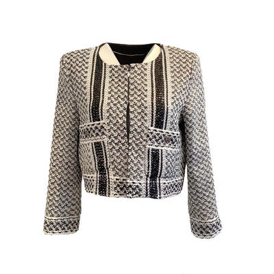 Chanel Black and White Blazer