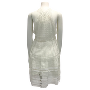 Chloé White Diamond Lace Short Dress