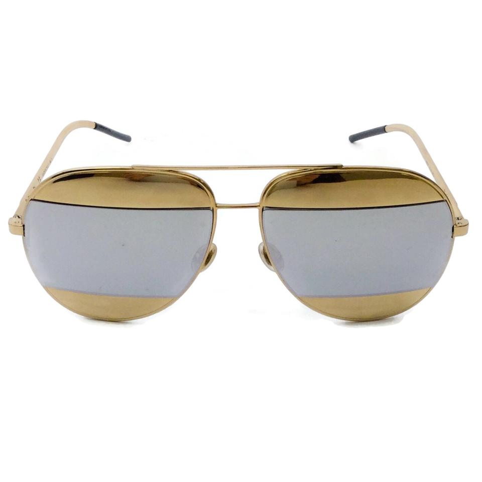 Dior Gold Mirrored Split Sunglasses