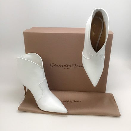 Gianvito Rossi White Mable Booties