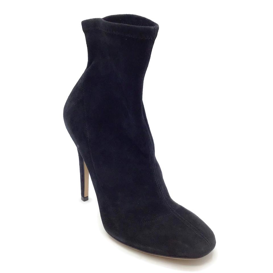 Jimmy Choo Black Suede Pull-on Boots