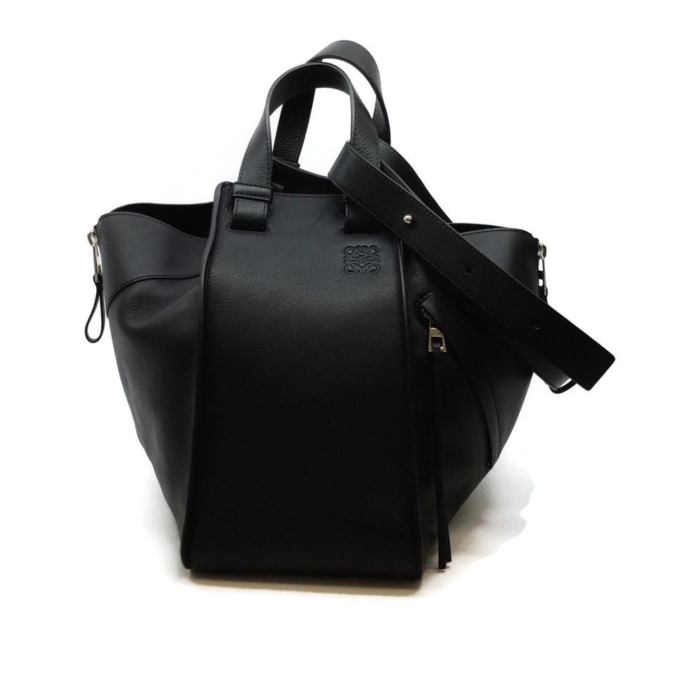 Loewe Hammock Black Leather Shoulder Bag