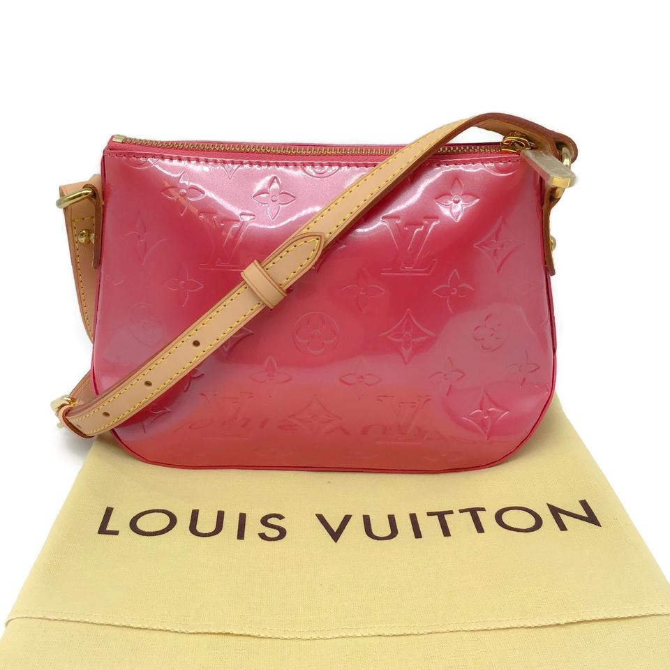 Louis Vuitton Street Minna Hot Pink Patent Leather Cross Body Bag