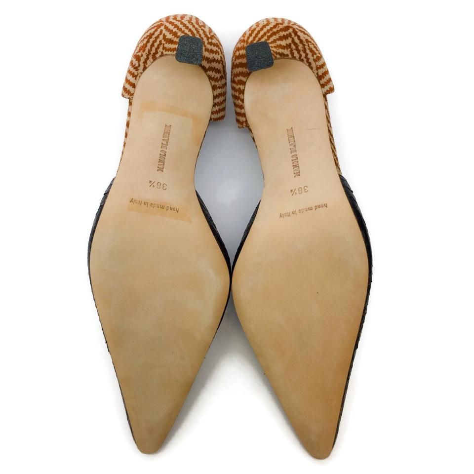 Manolo Blahnik Copper D'orsay Pumps