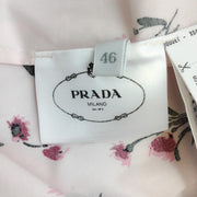Prada Pink Floral Eyelet Ruffle Casual Dress