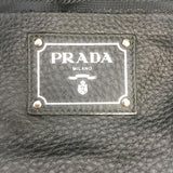 Prada Double Black Leather Tote