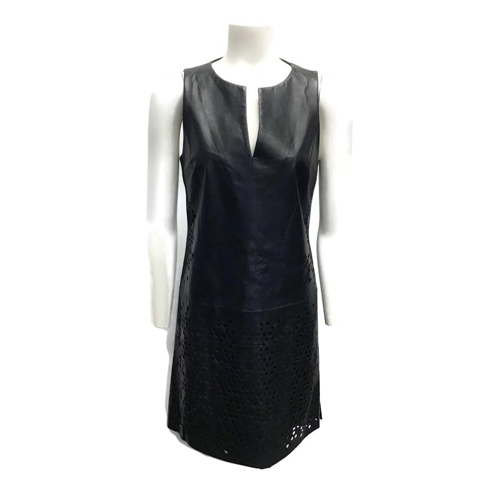 Ramy Brook Black Leather Cut-out Dress