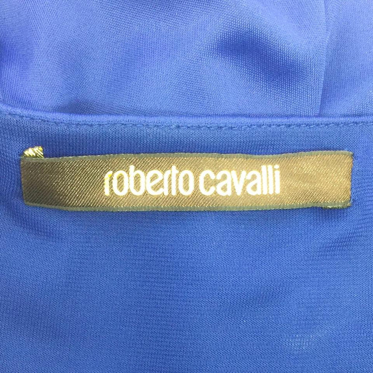 Roberto Cavalli Cobalt Hidden Belt Dress