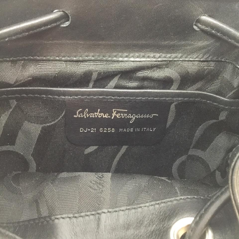 Salvatore Ferragamo Mini Black Leather Backpack