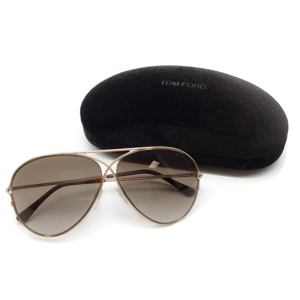 Tom Ford Gold Peter Aviator Sunglasses