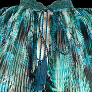 Jean-Paul Gaultier Teal Crinkle Work/Office Dress