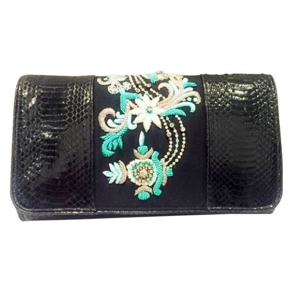 Embellished Black CLutch by Dries van Noten