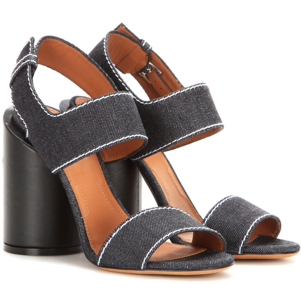 Edgy Denim Sandals by Givenchy