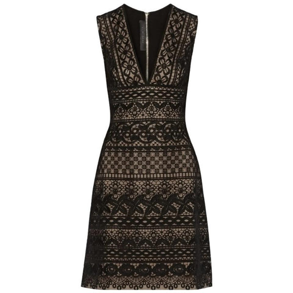 Elie Saab Black Guipure Lace Dress