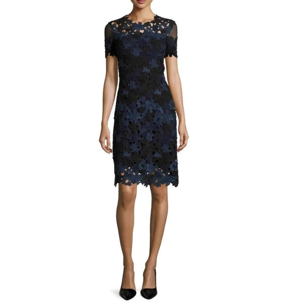 Elie Tahari Navy / Black Ophelia Dress
