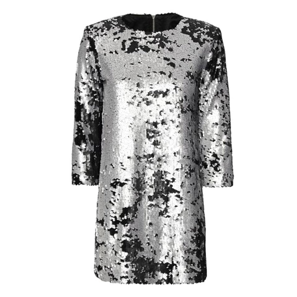 Elizabeth and James Black / Silver Danya Sequin Dress