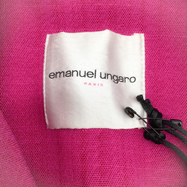 Emanuel Ungaro Fuchsia Floral Embroidered Coat