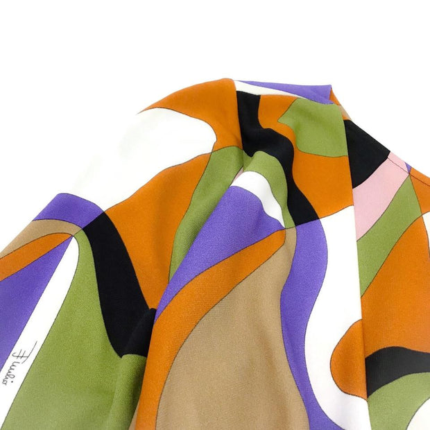 Emilio Pucci Multicolor Faux Wrap Dress