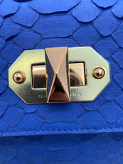 Alexander McQueen Envelope Royal Python Skin Leather Clutch
