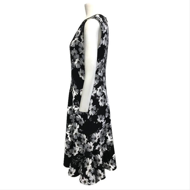 Erdem Black White Floral Work/Office Dress