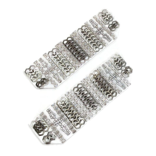 Erickson Beamon White / Silver Set Of 2 Cuffs 3