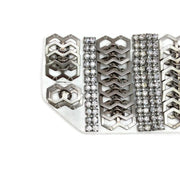 Erickson Beamon White / Silver Set Of 2 Cuffs 1