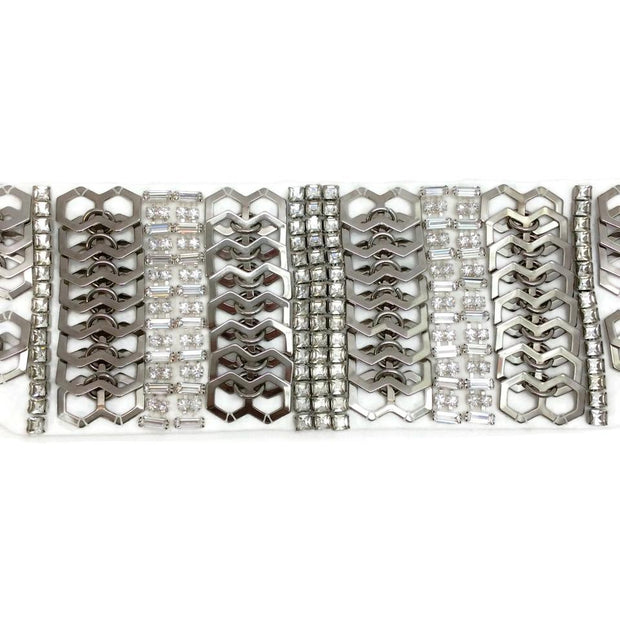 Erickson Beamon White / Silver Set Of 2 Cuffs 4