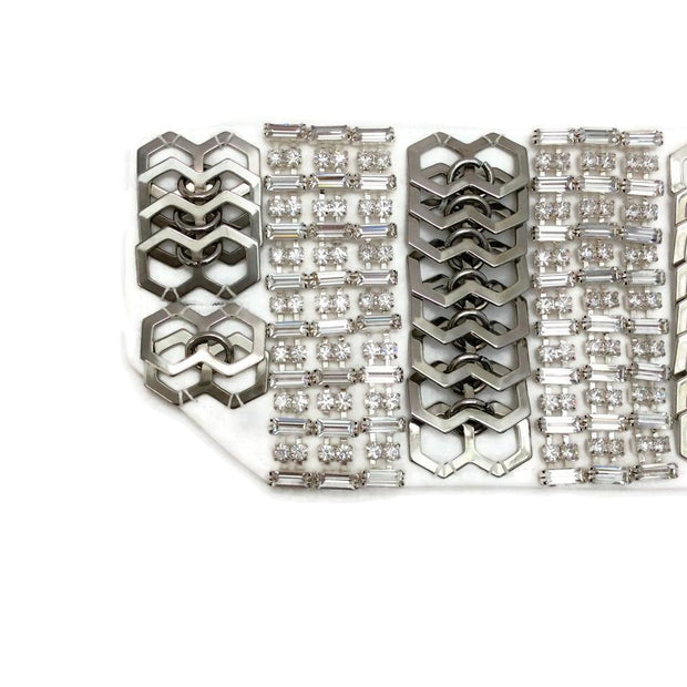 Erickson Beamon White / Silver Set Of 2 Cuffs 2