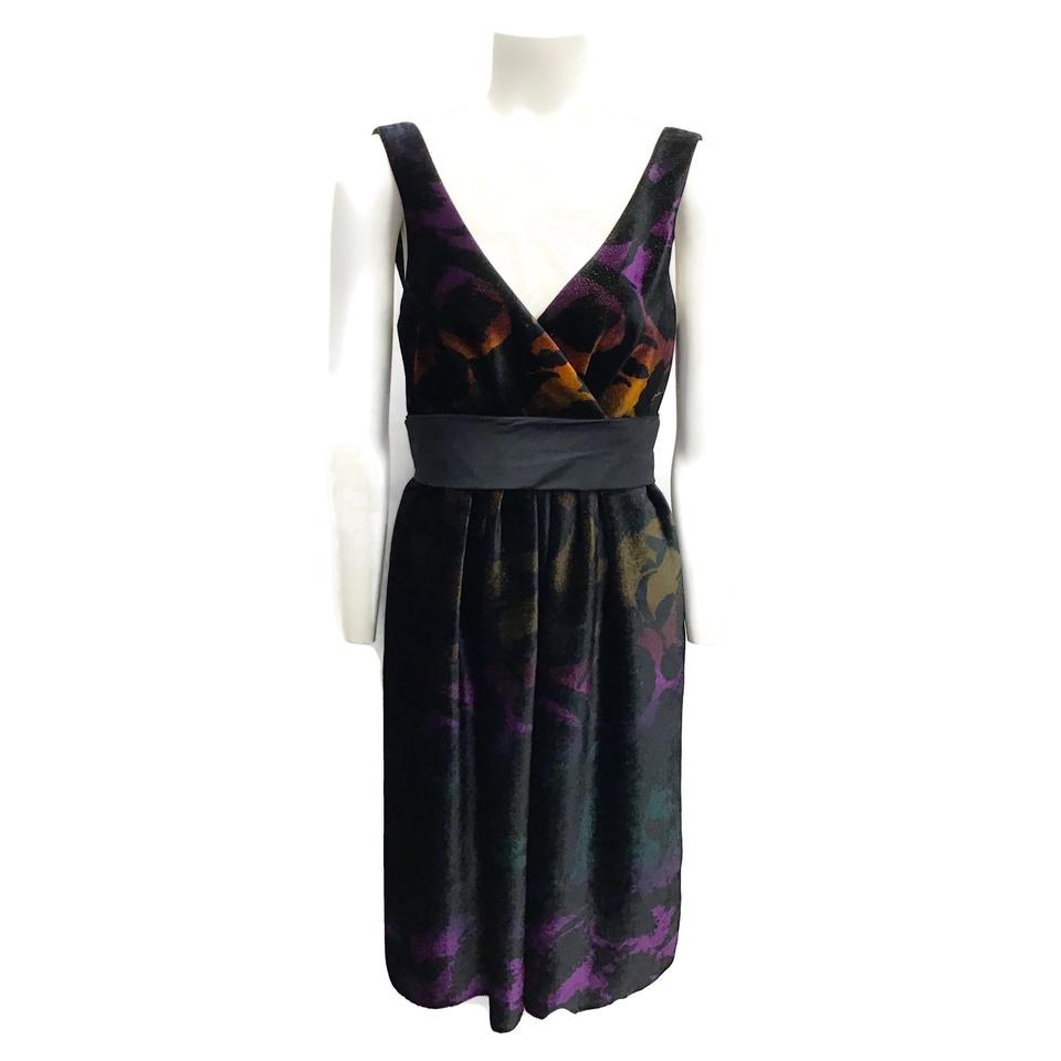 Etro Multicolor Shimmer Velvet Dress