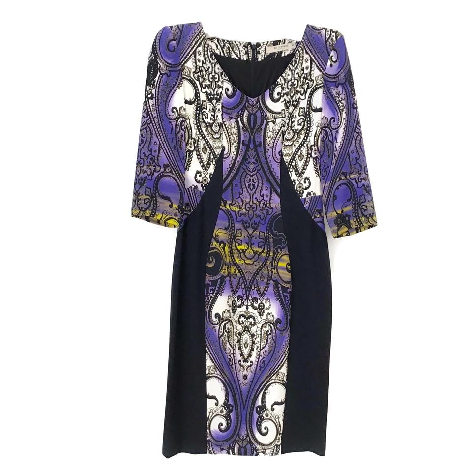 Etro Purple Multi Paisley Dress