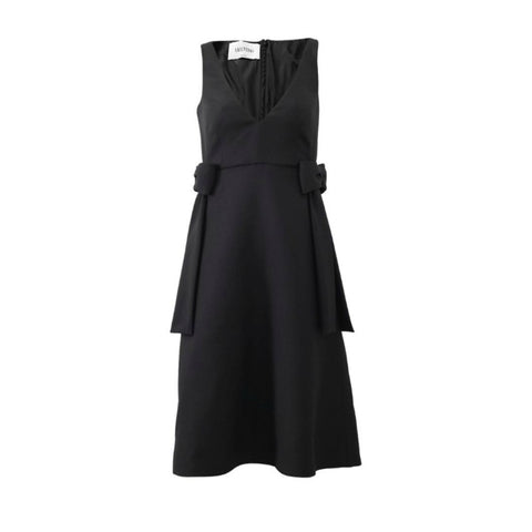 Valentino Black Bow Cocktail Dress