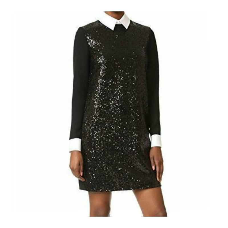 Victoria, Victoria Beckham Sequin Shift Cocktail Dress