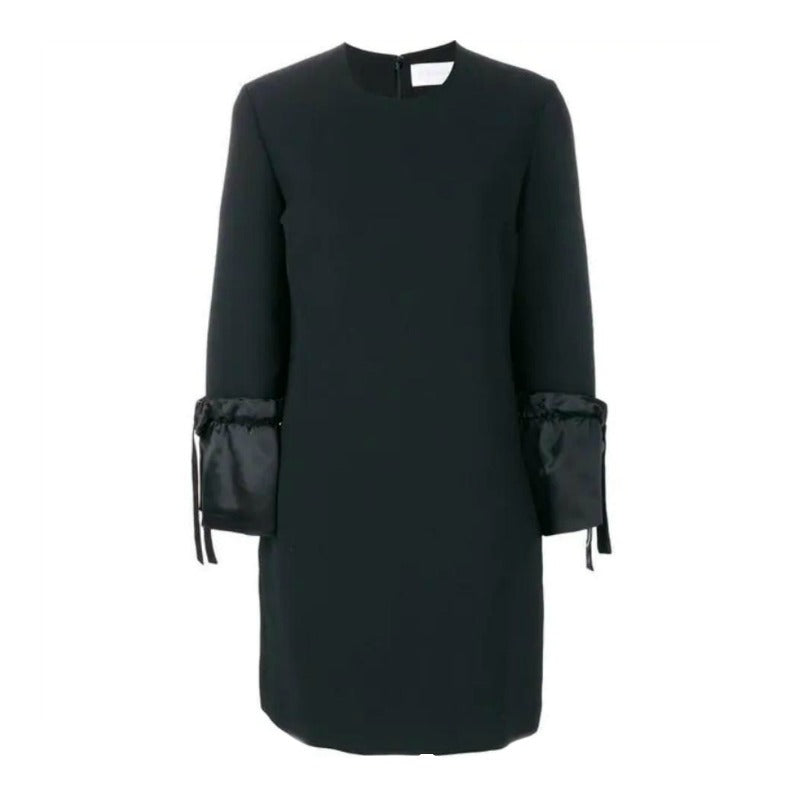 Victoria, Victoria Beckham Black Soft Crepe Cocktail Dress