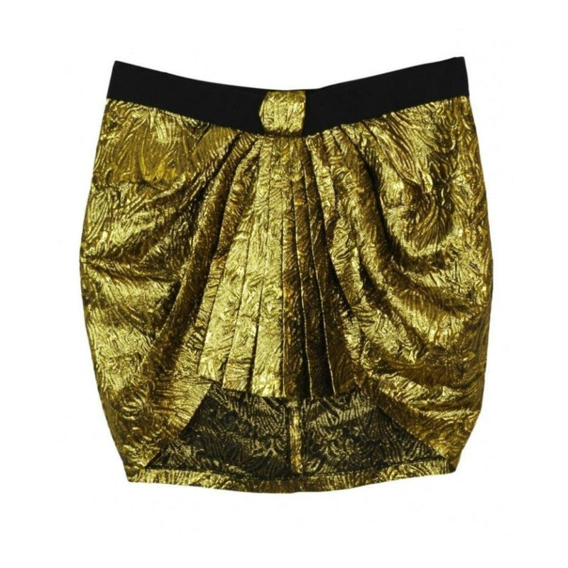 Isabel Marant Gold/Black Pleated Skirt