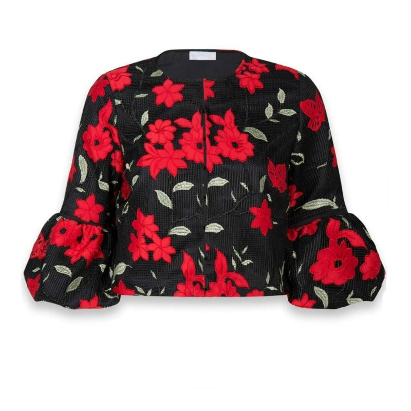 Anne Fontaine Black/Red Marietta Jacket