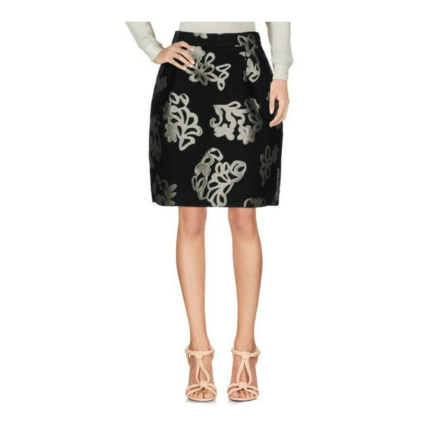 Lanvin Black/Metallic Jupe Skirt
