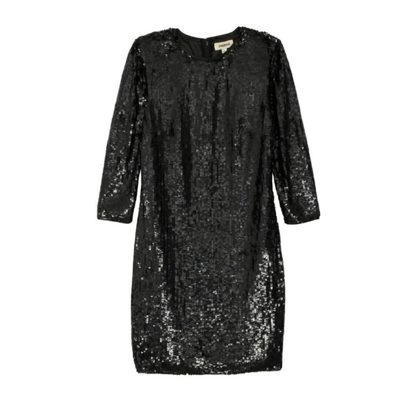 L'AGENCE Black Sarah Sequin Dress