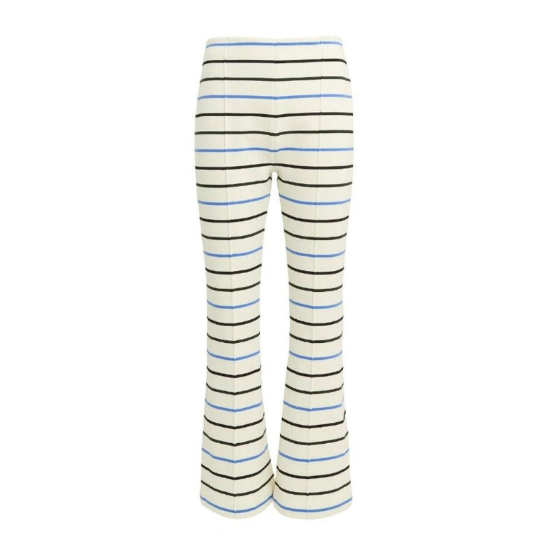Sonia Rykiel Ivory/Blue/Black Striped Pants