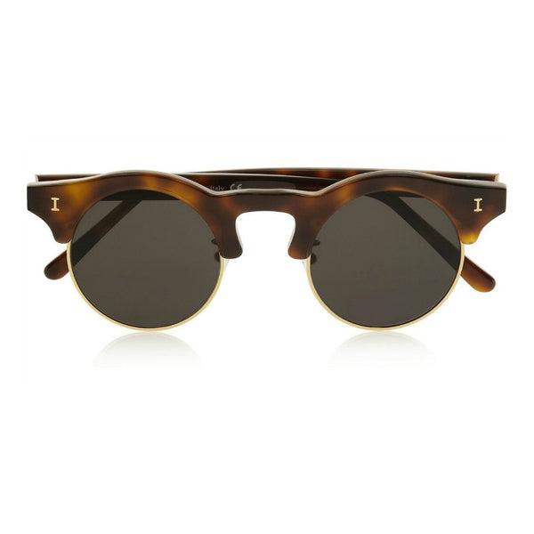 Illesteva Corsica Sunglasses Tortoise With Black Lenses