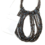 Fabiana Filippi Bronze / Blue Rhinestone Necklace