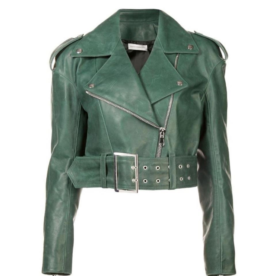 Faith Connexion Green Biker Jacket