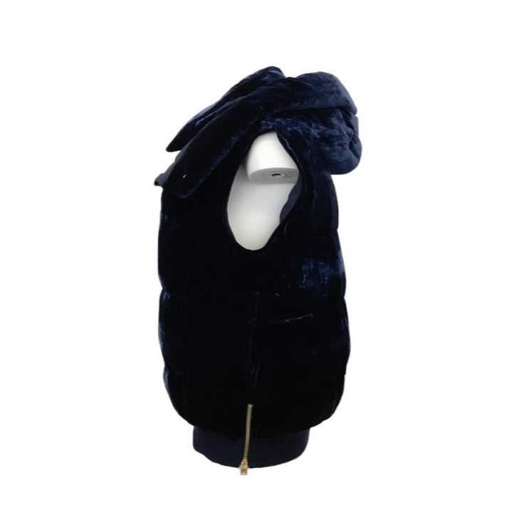 Stella McCartney Navy Velvet Hood Vest