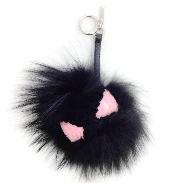 Fendi Black Fur Monster Purse Charm